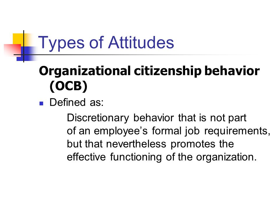 organizational citizenship behaviors essay Basic withdrawal behaviors are absenteeism and turnover organizational citizenship refers to behavior that makes a positive overall contribution to the organization.