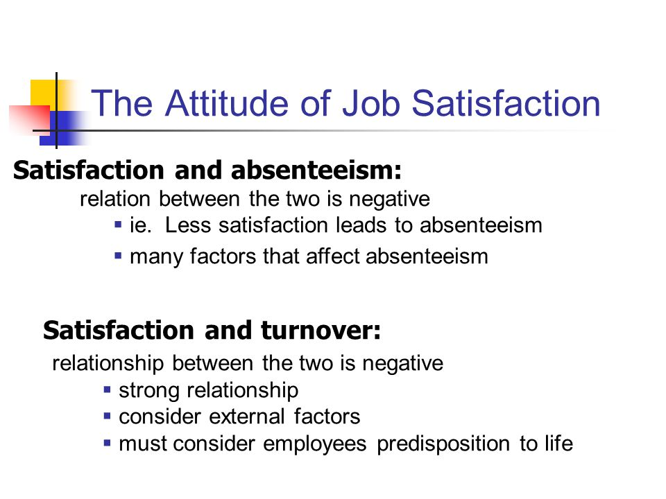 attitudes and job satisfaction ppt