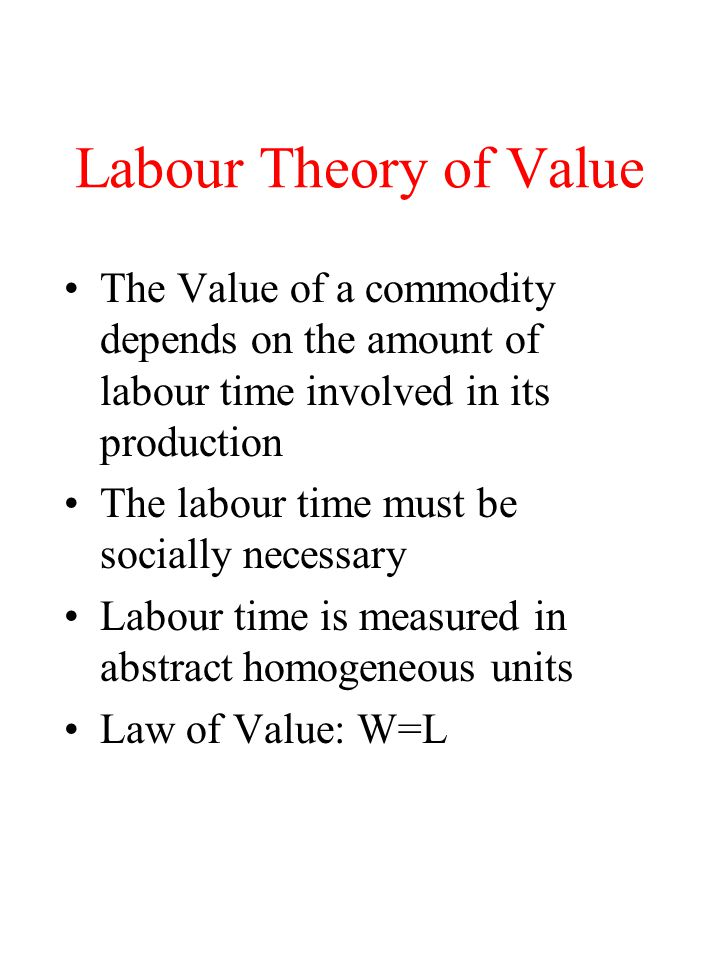 Labour theory of value