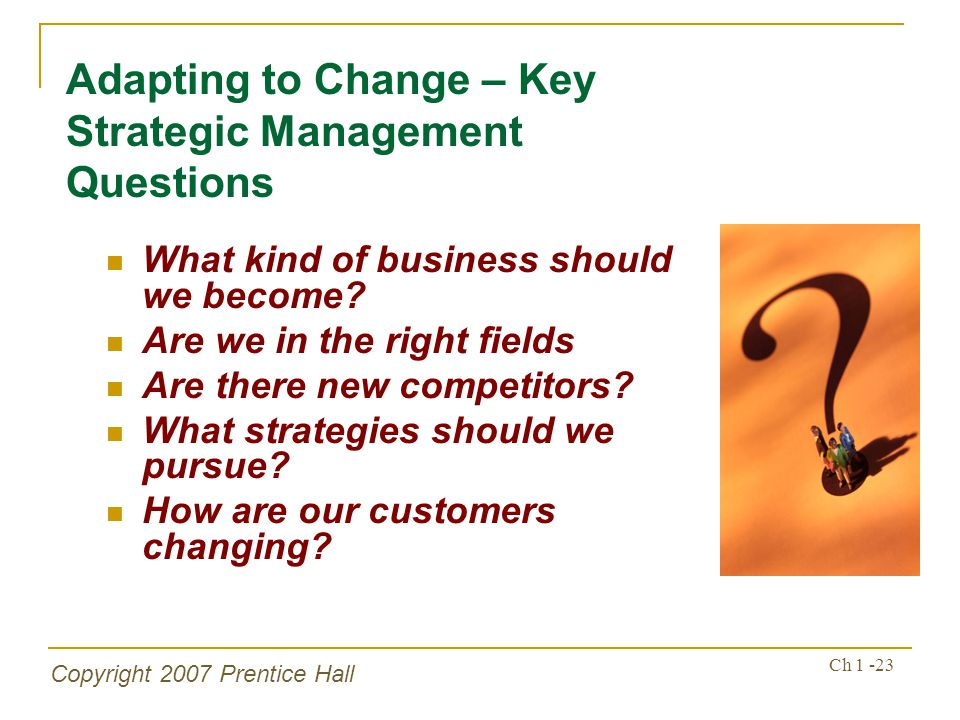 Adapting to Change – Key Strategic Management Questions