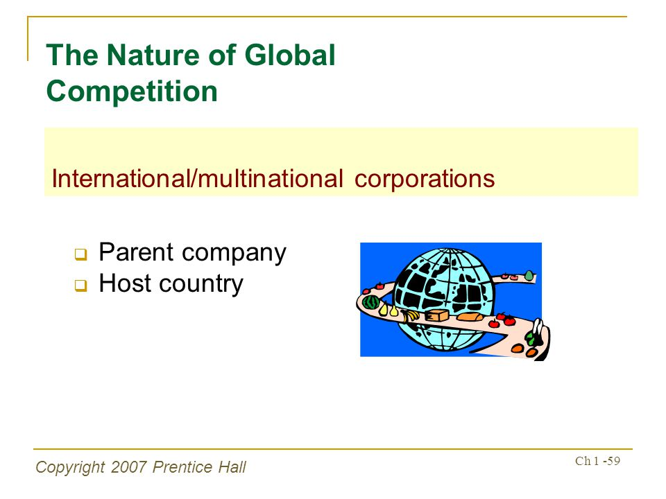 The Nature of Global Competition