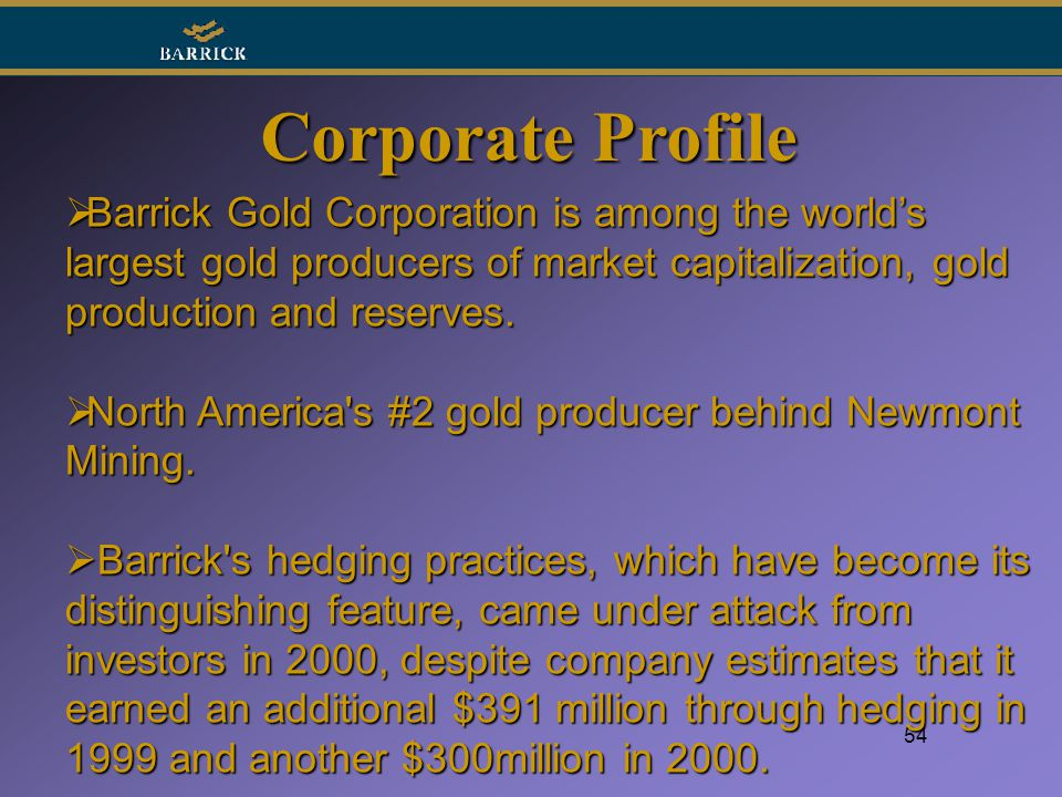 Barrick Gold Corporation (USA) (ABX) Announces 4Q:16 and Full-Year Financial Results