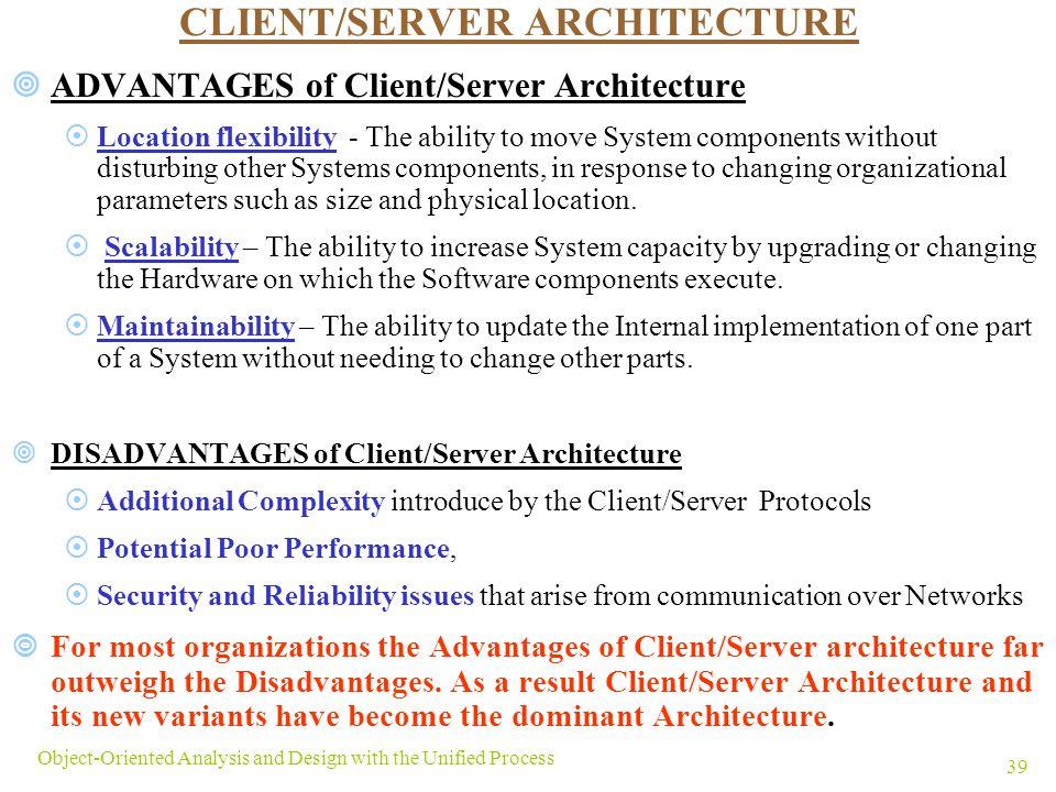 Advantages and disadvantages of client server architecture pdf