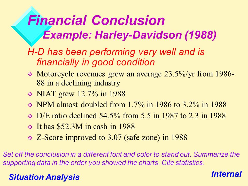 harley davidson financial and strategic analysis An analysis on harley davidson's international  its focus on the company's long term strategic  case analysis: first community financial.