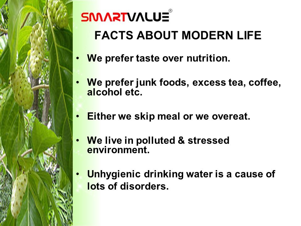 FACTS ABOUT MODERN LIFE