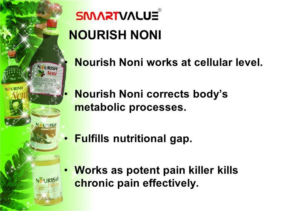 NOURISH NONI Nourish Noni works at cellular level.