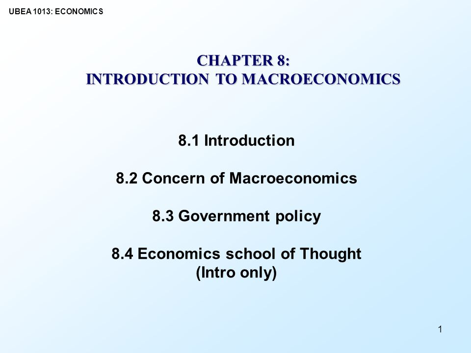 macroeconomic schools of thought Dominant schools of thought, namely, the new keynesian and the new classical  economics such that many saw macroeconomic disputes as a thing of the past.