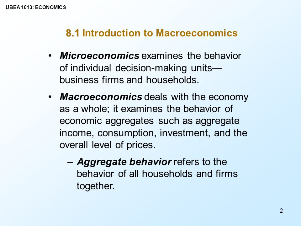 History of macroeconomic thought