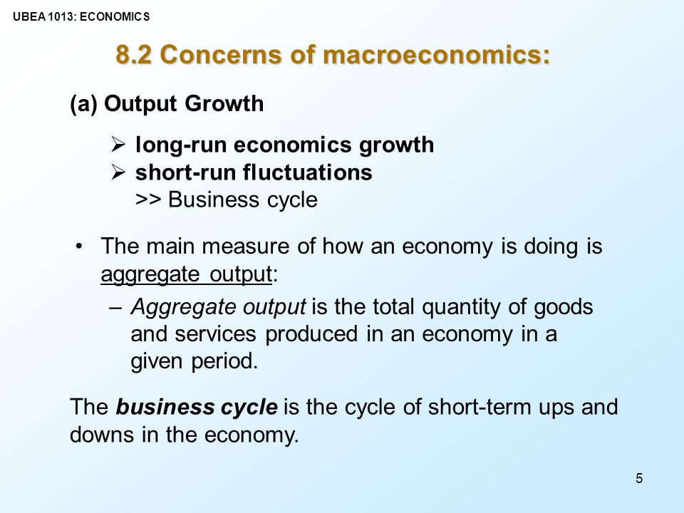 business cycle cycle of short term ups Start studying economics chapter 5 macroeconomics concerns  the term business cycle refers to the a) short-term ups and  short-term ups and downs in the.
