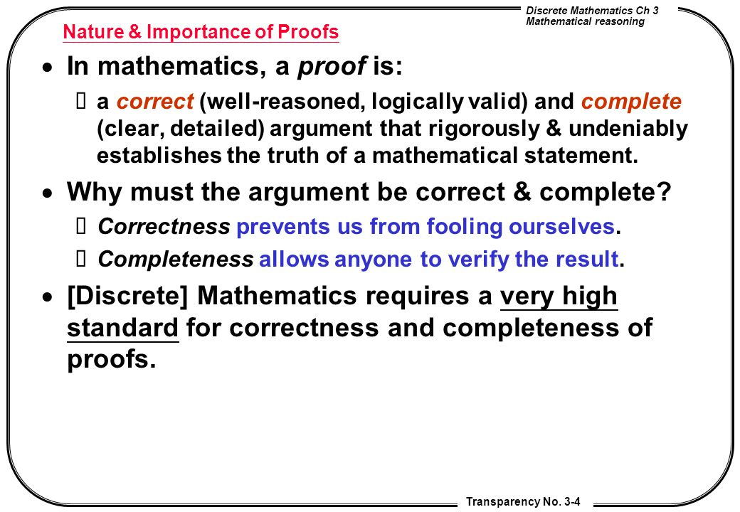 Mathematical Reasoning Writing and Proof