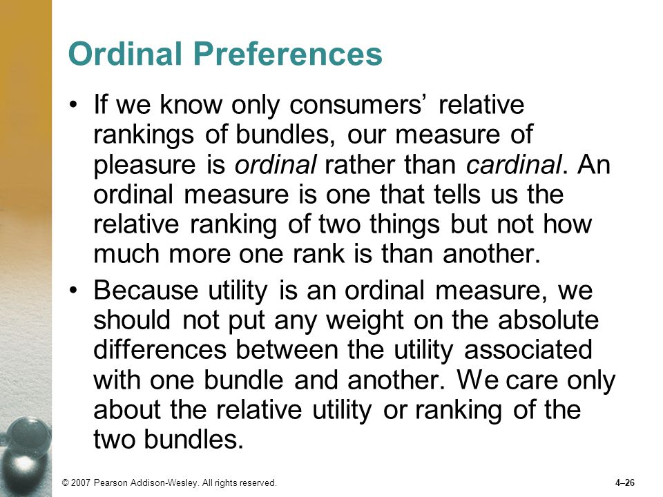 Ordinal Preferences