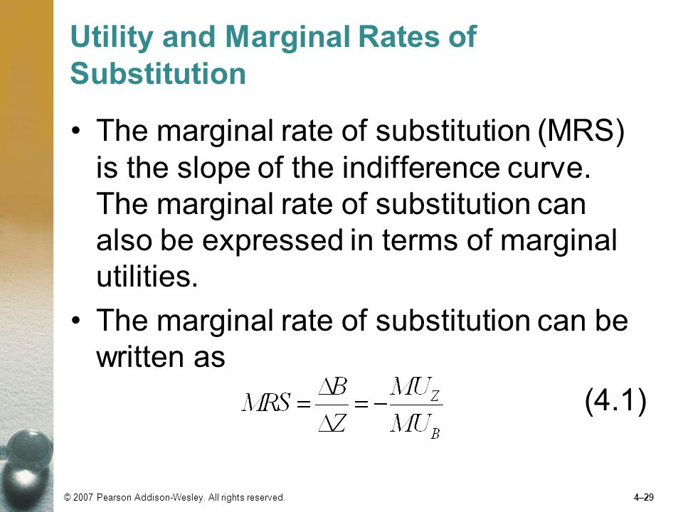 Utility and Marginal Rates of Substitution