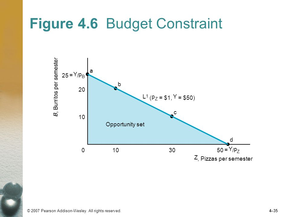 Figure 4.6 Budget Constraint