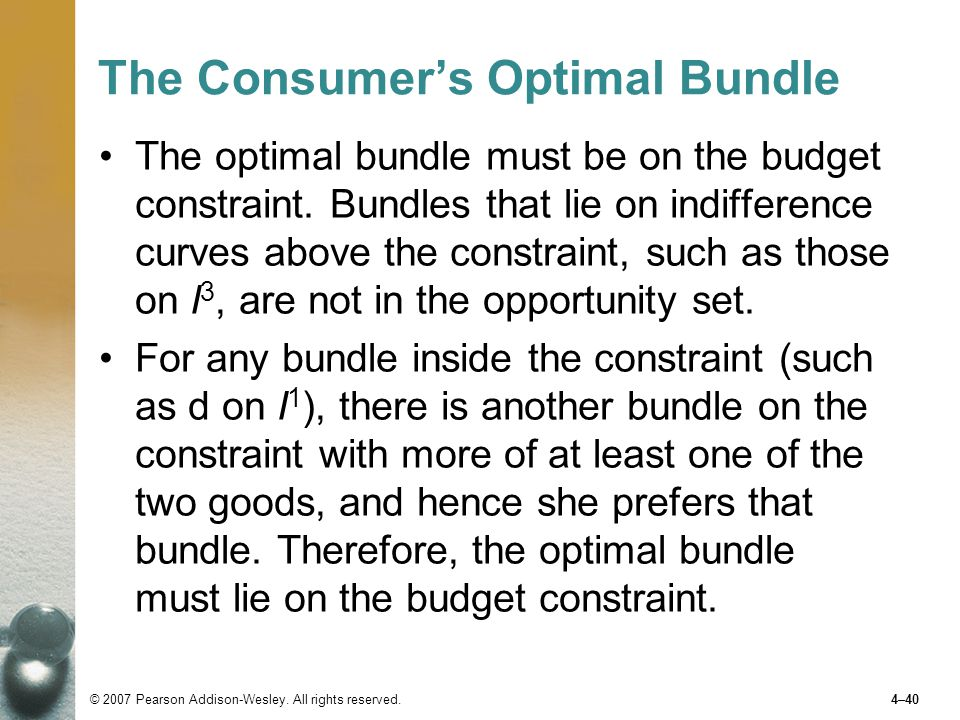 The Consumer's Optimal Bundle