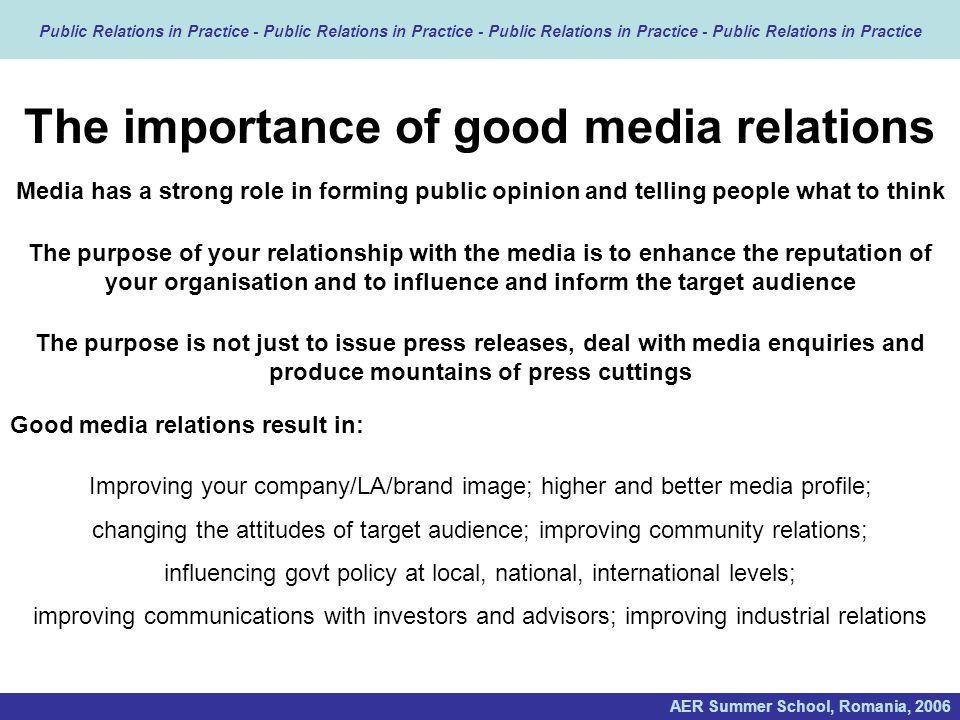 culture and media relationship importance