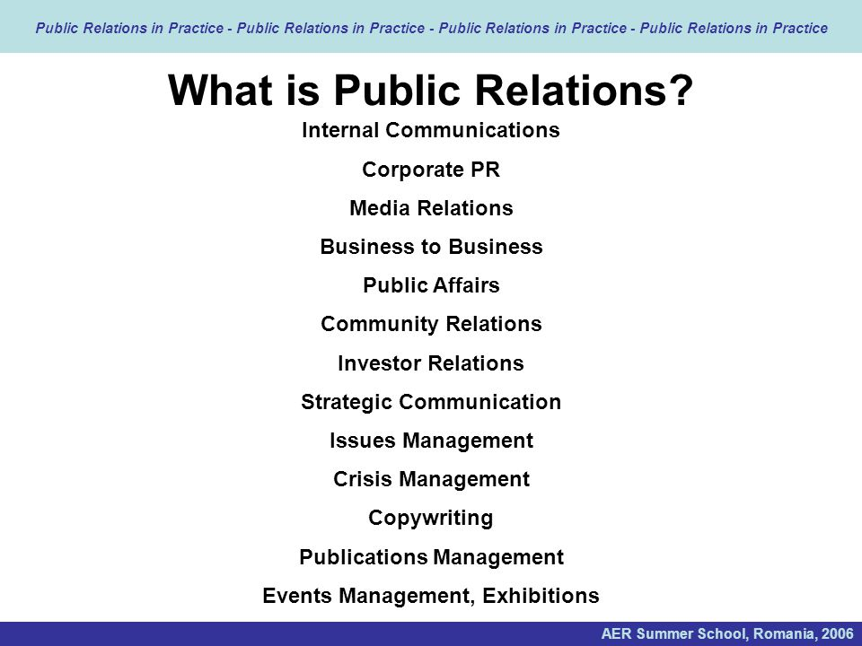 an introduction to media relations Introduction this crisis a situation arises that may be a crisis the first thing you should do is contact your ceo and the chief of your public relations department , skilled in handling media, skilled in directing responses to another topic, skilled in identifying key points.