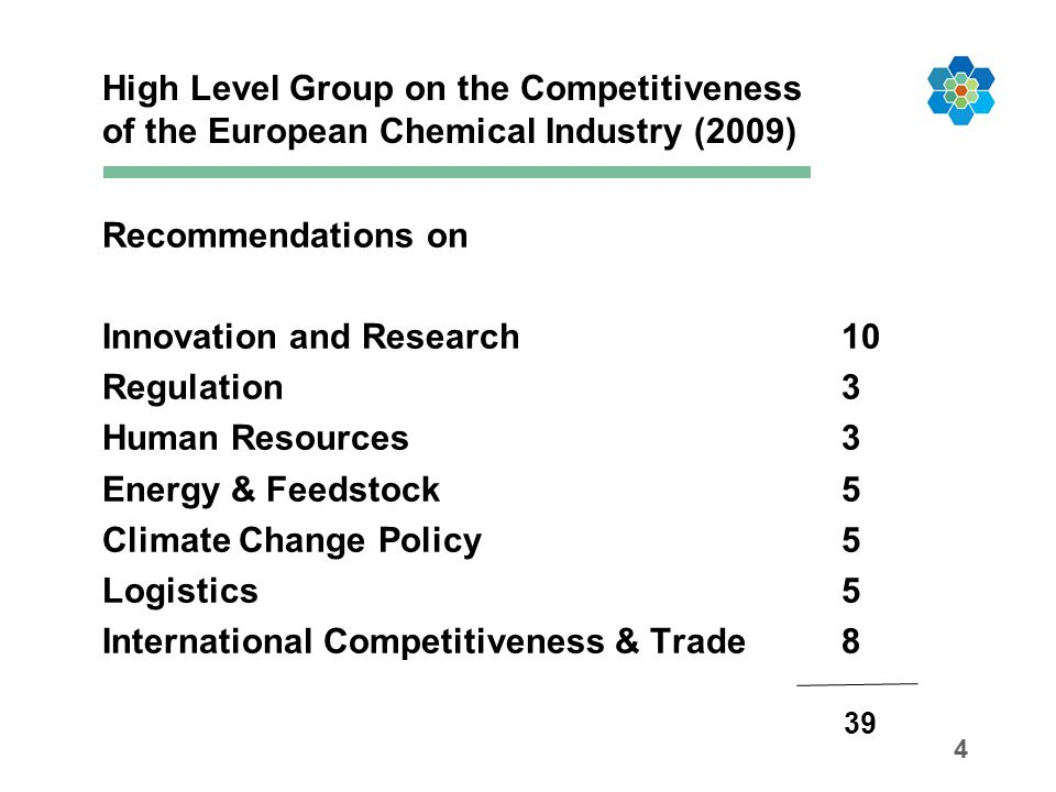 High Level Group on the Competitiveness of the European Chemical Industry (2009)