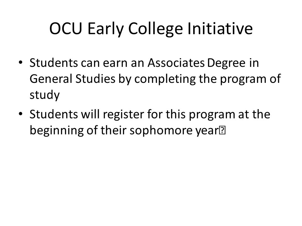 OCU Early College Initiative