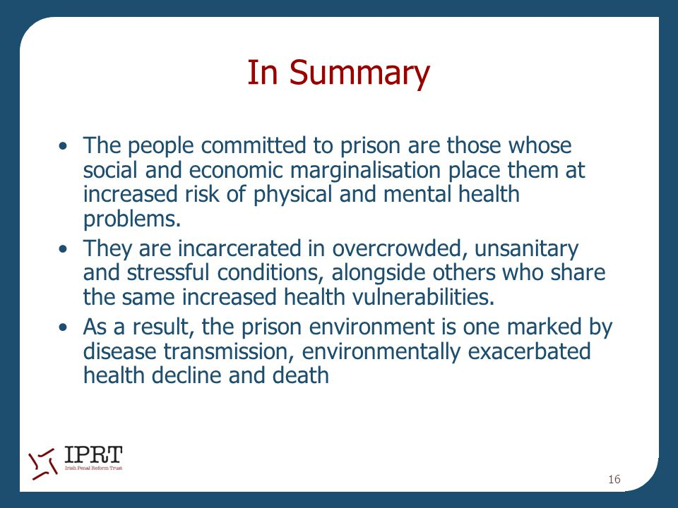summary of a study of prisoners Download citation on researchgate | on jan 1, 2005, steven alan samson and others published ricardo hausmann: prisoners of geography study guide .