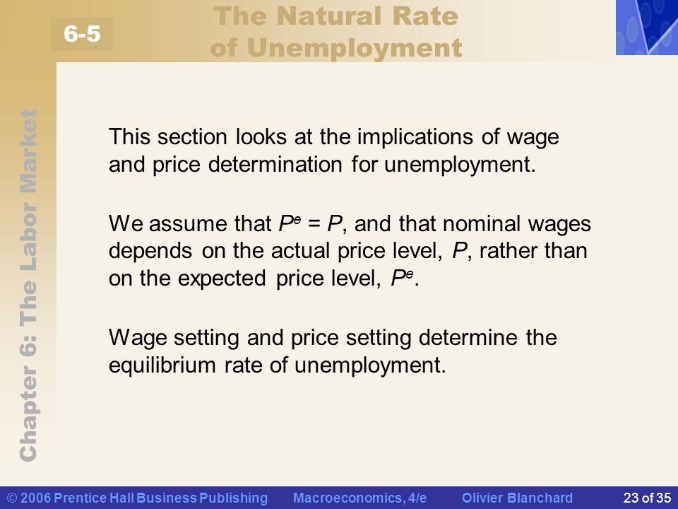 the determination of the natural rate Economists often talk about the natural rate of unemployment when describing the health of an economy, and specifically, economists compare the actual unemployment rate to the natural rate of unemployment to determine how policies, practices, and other variables are affecting these rates if the .