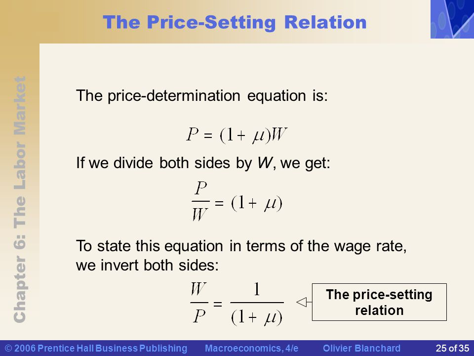 wage setting and price relationship limits