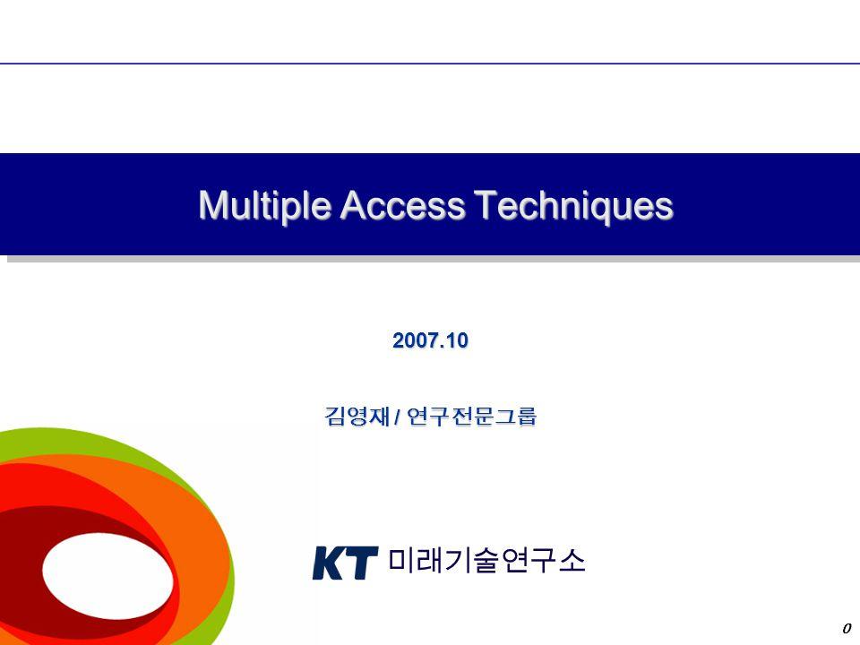 목차 Multiple Access Techniques Mac Issues Technology Trends