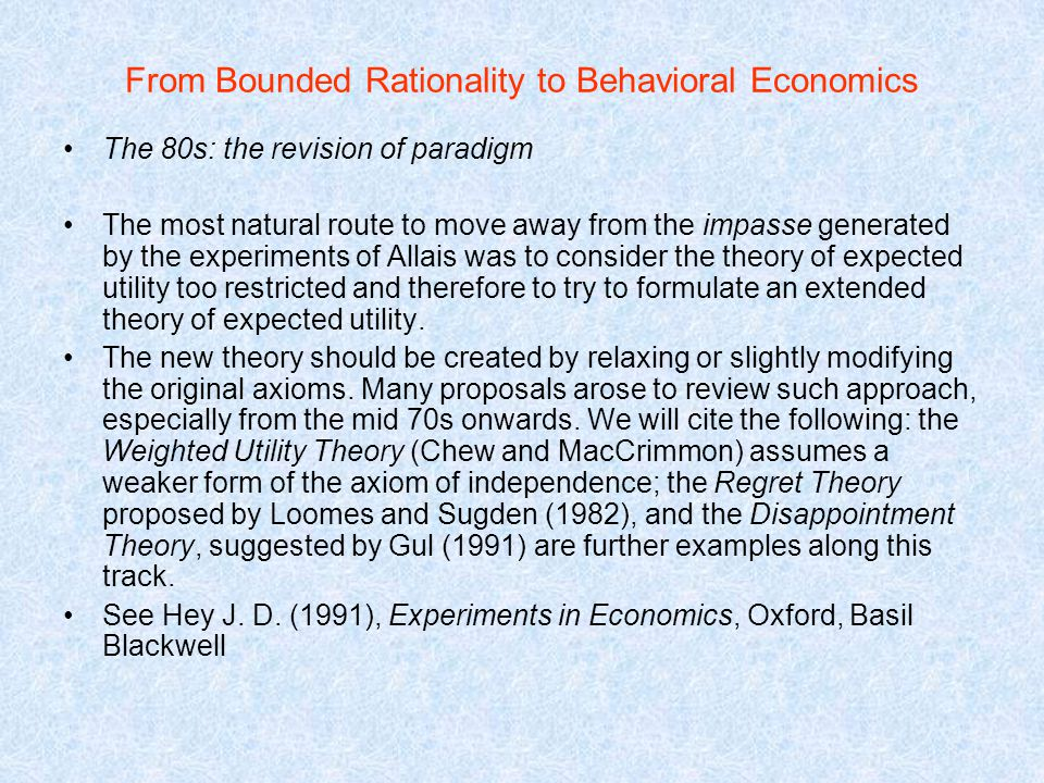 bounded rationality in macroeconomics a review essay Papers maps of bounded rationality: review, 84(2), pp mathematical economics to conform with economic bounded rationality|rationality as bounded by.