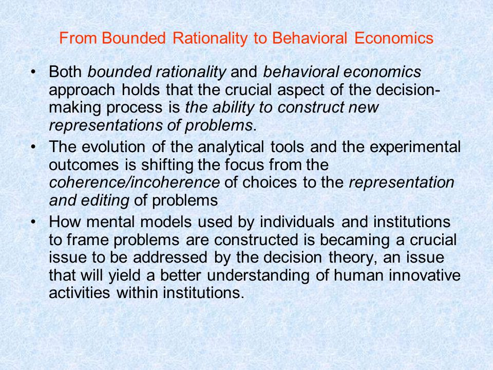 bounded rationality meaning