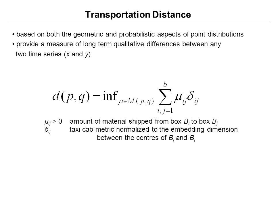 Transportation Distance