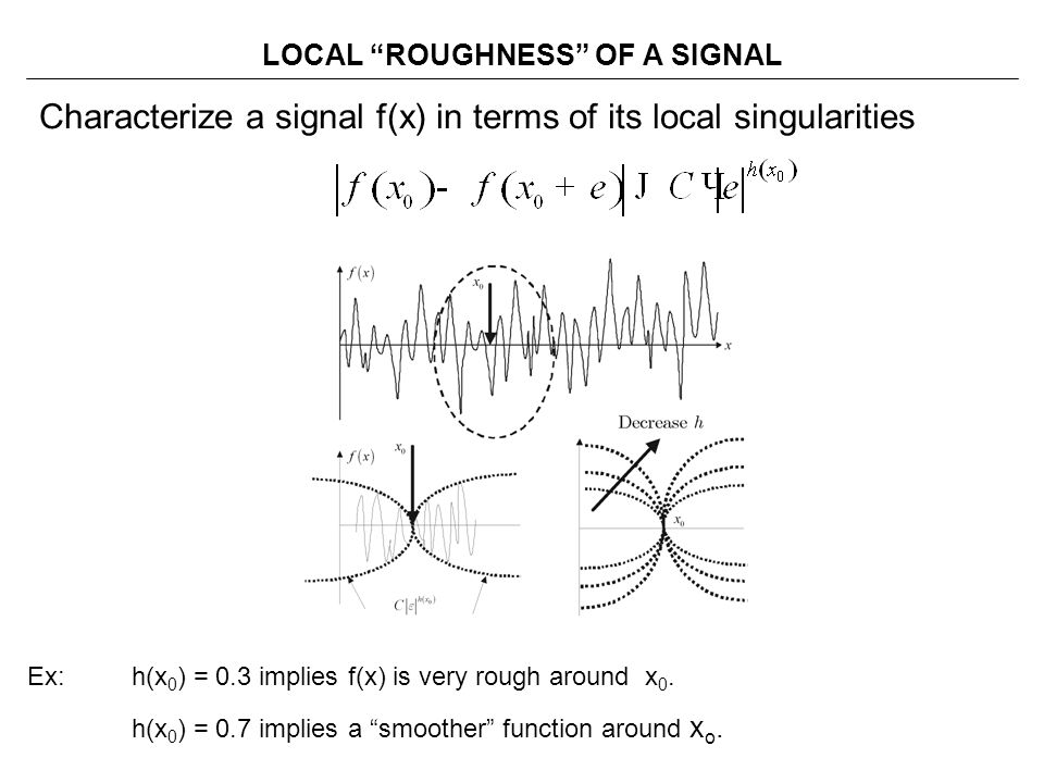 LOCAL ROUGHNESS OF A SIGNAL