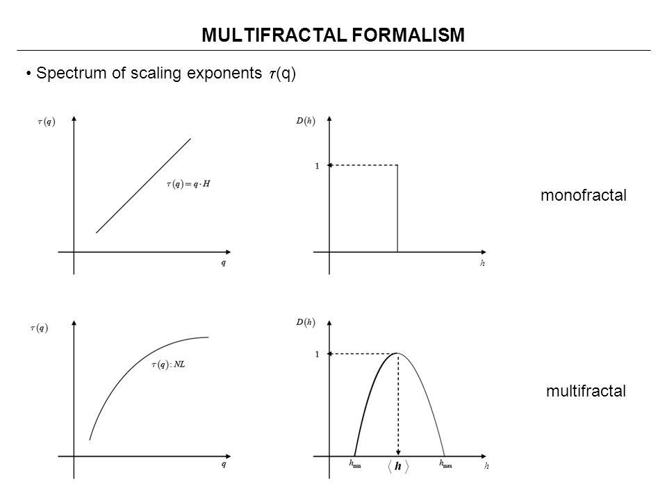 MULTIFRACTAL FORMALISM