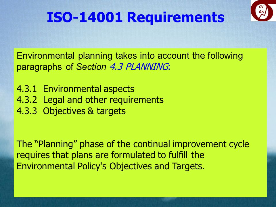 ISO Requirements