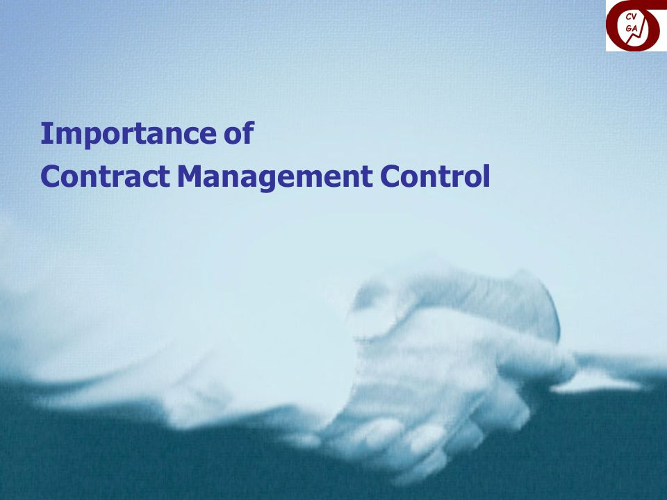 Importance of Contract Management Control