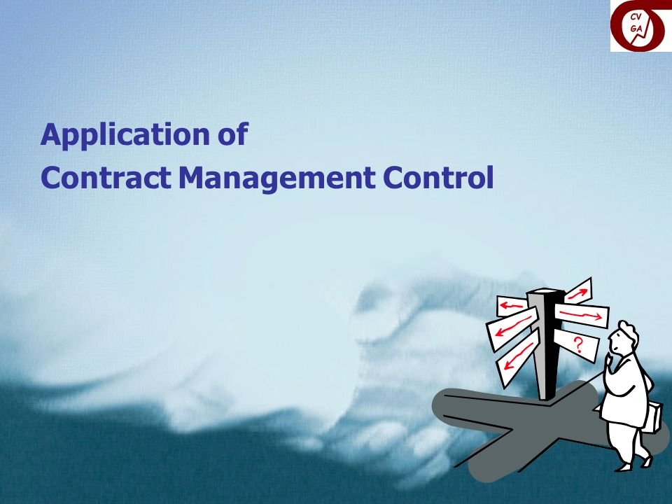 Application of Contract Management Control