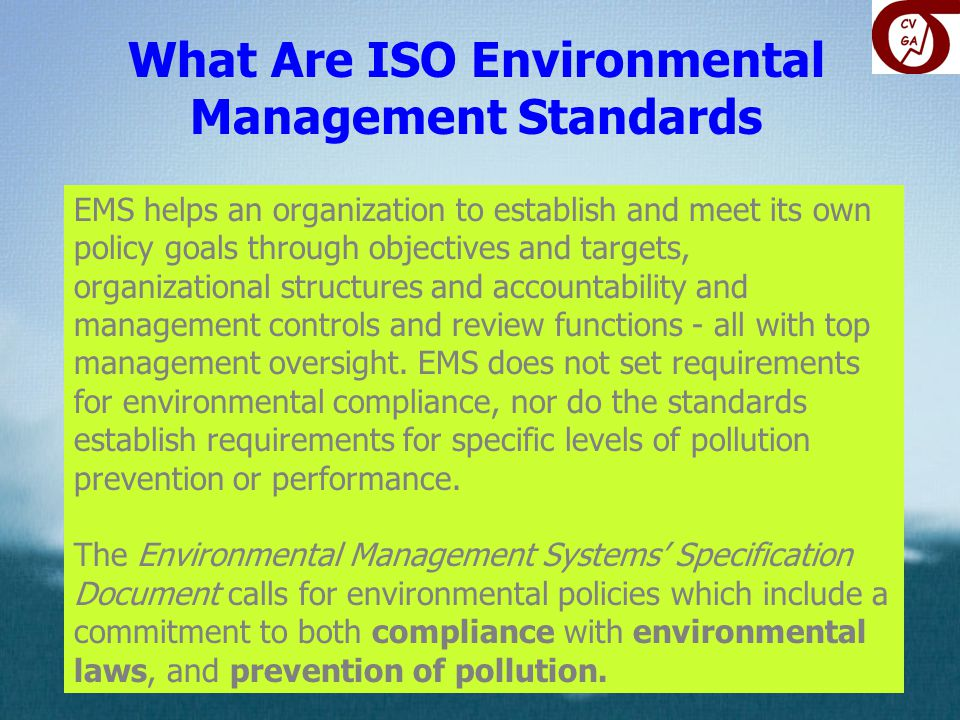 What Are ISO Environmental Management Standards