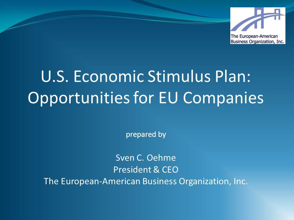 U.S. Economic Stimulus Plan: Opportunities for EU Companies