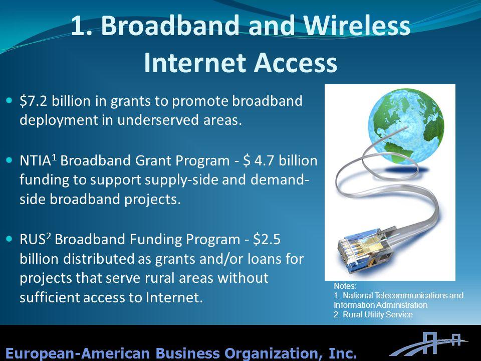 1. Broadband and Wireless Internet Access