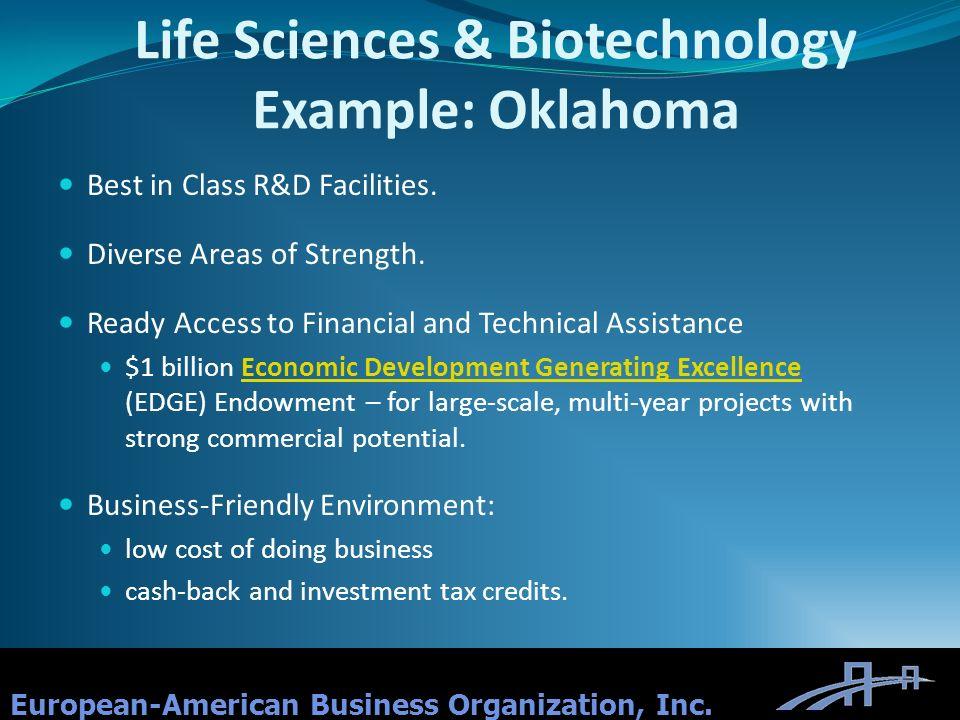 Life Sciences & Biotechnology Example: Oklahoma