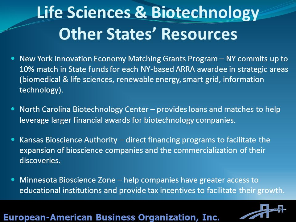 Life Sciences & Biotechnology Other States' Resources