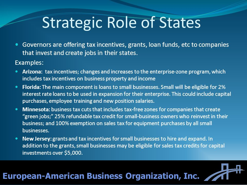 Strategic Role of States