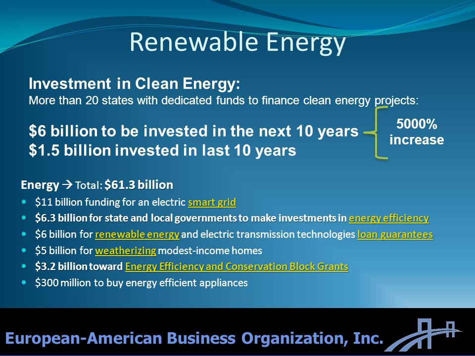 Renewable Energy Investment in Clean Energy: