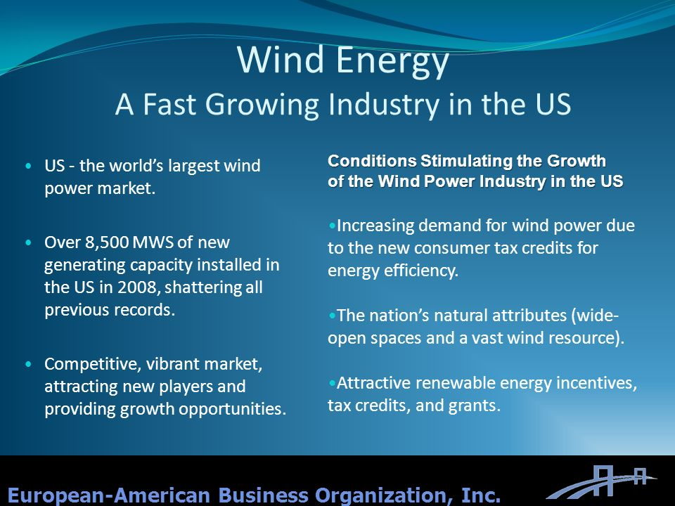 Wind Energy A Fast Growing Industry in the US