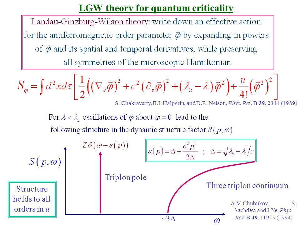 LGW theory for quantum criticality