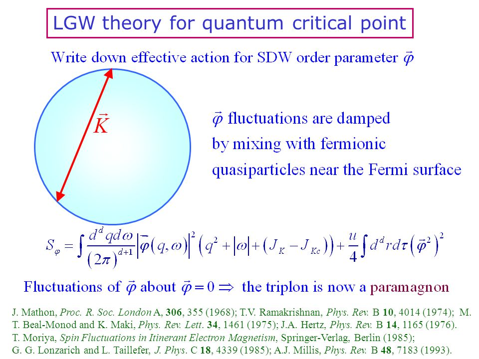 LGW theory for quantum critical point