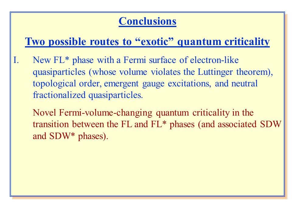 Two possible routes to exotic quantum criticality