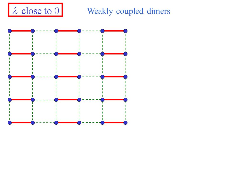 Weakly coupled dimers