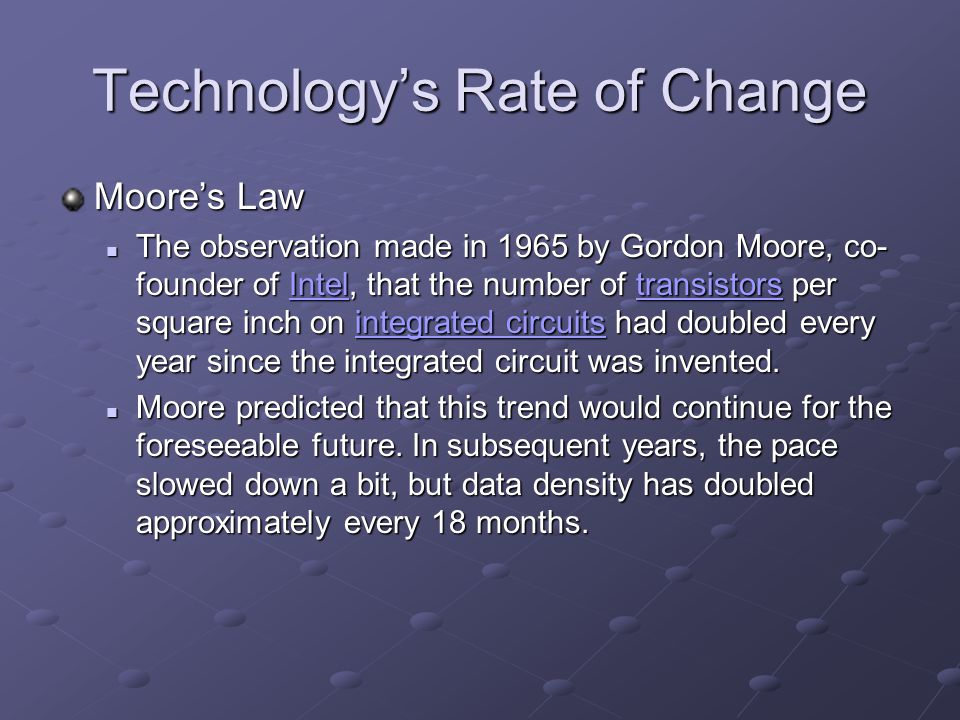 The Evolution of Technology: Past, Present and Future