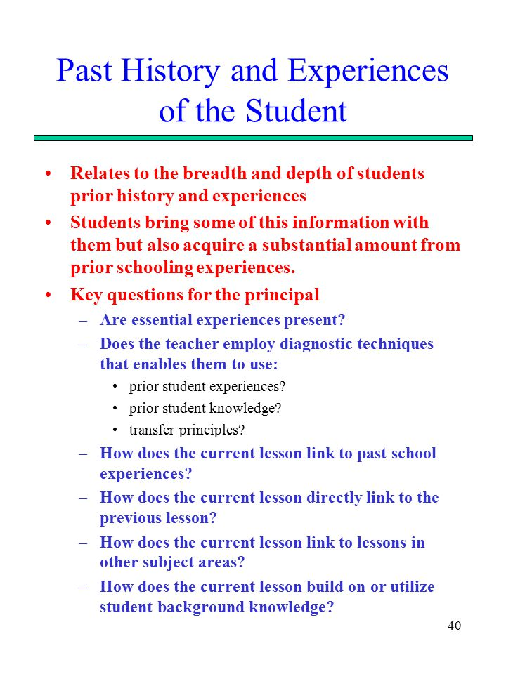 how to build on students prior knowledge