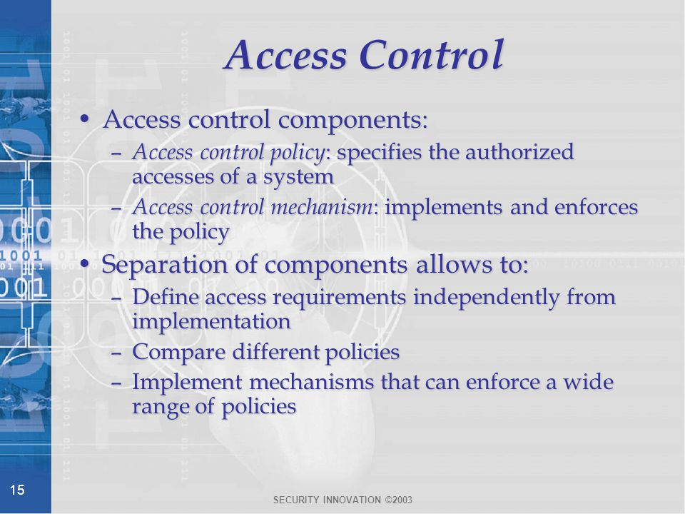 access control system components pdf