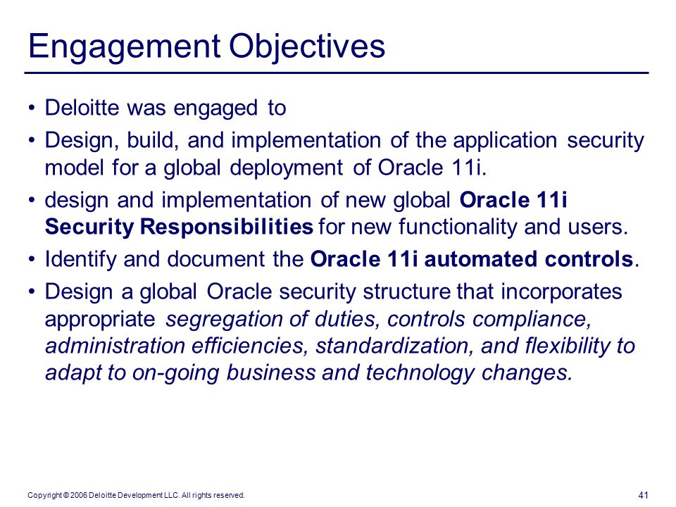 42 security controls objectives - Sox Process Documentation